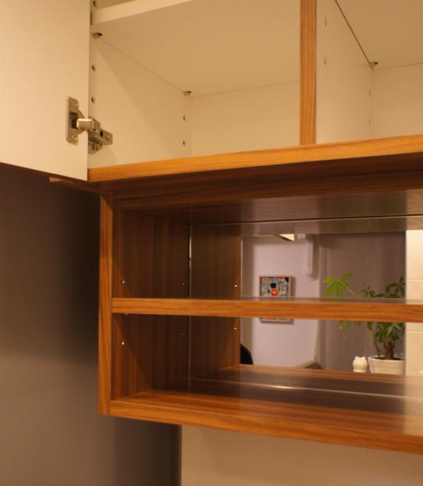 オーダー 鏡 吊戸棚