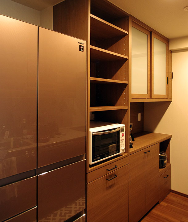 マンション食器棚のオーダー