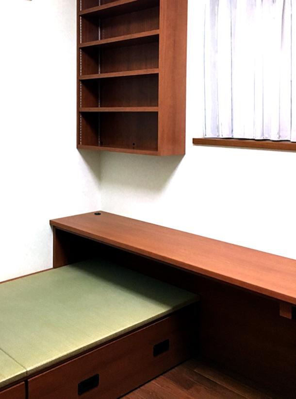 オーダーメイドの階段収納家具